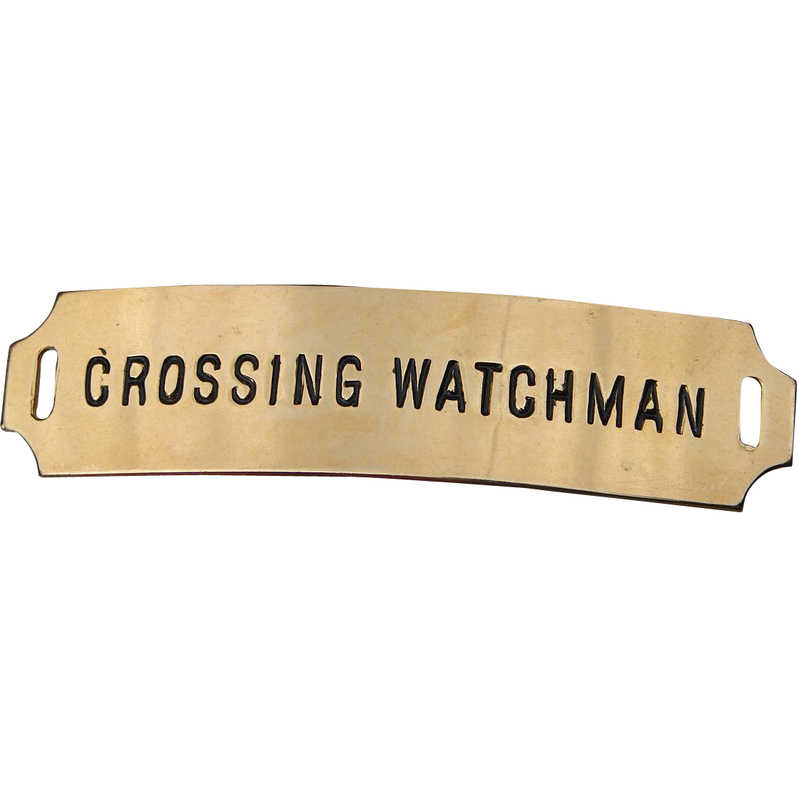 Vintage Authentic Crossing Watchman Railroad Cap Hat Badge by American Railway Supply