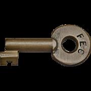 Vintage Florida East Coast Railroad Brass Railway Switch Key