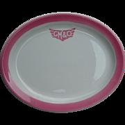 "Vintage Gulf, Mobile & Ohio Railroad China ""Rose""  Platter GM&ORR Top Logo"
