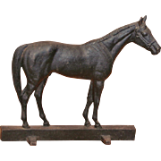 Signed Virginia Metalcrafters Cast Iron Citation Horse Door Stop Kinstler 1949
