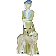 "Vintage Large Royal Doulton ""Park Parade"" Figurine Lady with Borzoi Wolfhound Dog 1986"