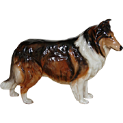 Vintage Royal Doulton China Collie Dog Figurine Retired 1969