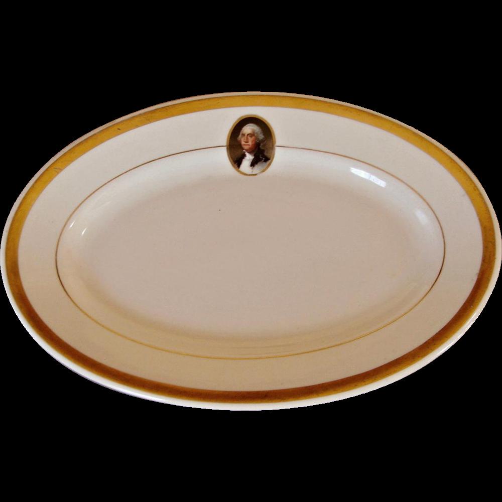 Vintage Chesapeake & Ohio Railroad China George Washington C&ORR Plate Platter