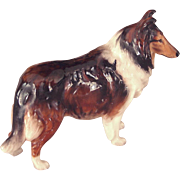 Vintage Royal Doulton Porcelain Rough Collie Dog Figurine