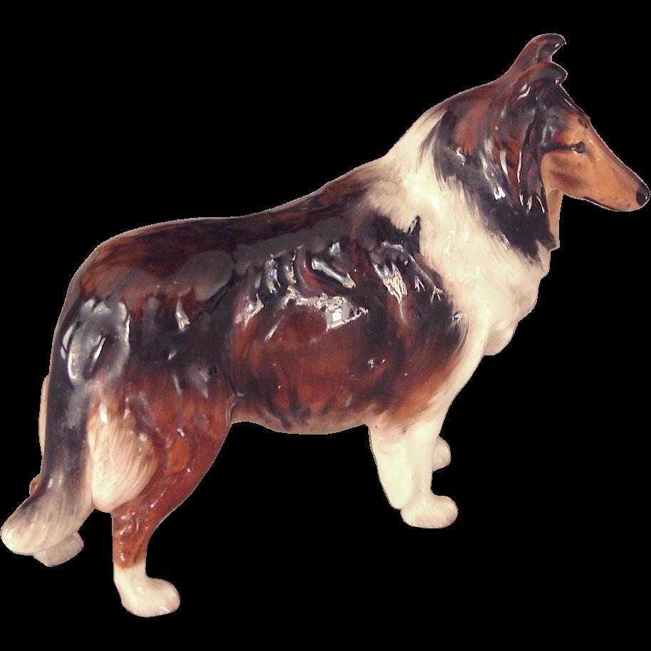 Vintage Royal Doulton Porcelain Rough Collie Dog Figurine