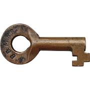 Antique Boston & Maine B&MRR Railroad Brass Bohannan Switch Key