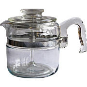 Vintage 4-Cup Pyrex Flameware Glass Coffee Pot Percolator Complete
