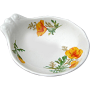 Santa Fe Railroad Fred Harvey California Poppy Ice Cream Bowl Dish