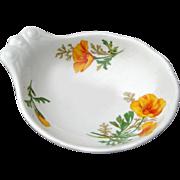 Santa Fe Railroad Fred Harvey California Poppy Ice Cream Bowl Dish