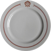 SEVERAL AVAILABLE: Antique Snell's Dancing Academy Restaurant Ware Dance School China Dinner Plate