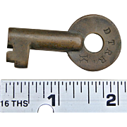 Vintage Detroit Terminal Railroad Brass Switch Key DTRR