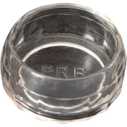 Vintage Pennsylvania Railroad PRR Glass Sponge Holder Dish