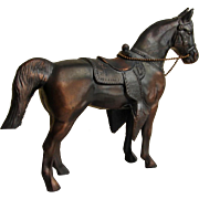 Vintage Large Gladys Brown Edwards Mid-Century Cast Metal Western Arabian Stallion Horse