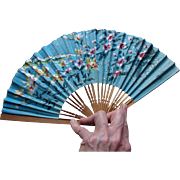 Vintage Union Pacific Railroad Lady's Folding Hand Fan Railway Advertising UPRR
