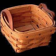 Vintage 1994 Adorable Little Signed Hand Woven Longaberger Basket ~ Gr8 for Easter