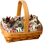 "Adorable Vintage 1996 Longaberger ""Horizon of Hope"" Cancer Society Signed Basket Gr8 for Easter"