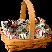 """Adorable 1996 """"Horizon of Hope"""" Cancer Society Signed Longaberger Basket Gr8 for Easter"""