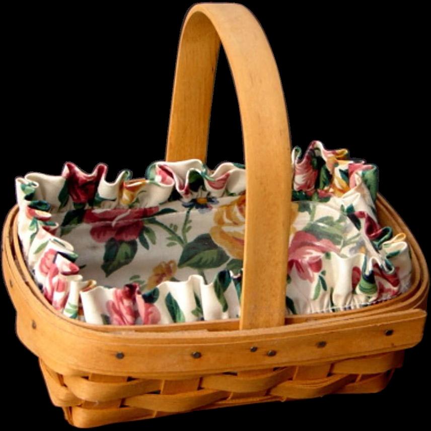 "Adorable Vintage 1996 Longaberger ""Horizon of Hope"" Cancer Society Signed Basket"