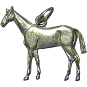 Miniature Sterling Silver Horse Charm or Pendant Amazing Realistic