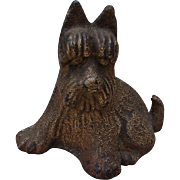 Vintage Cast Iron Grizzled Scotty Scottie Dog Figurine