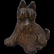 Vintage Cast Iron Scotty Scottie Dog Figurine