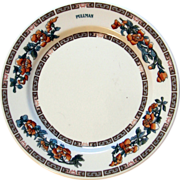 "Pullman Railroad China ""Indian Tree"" Dinner Plate"