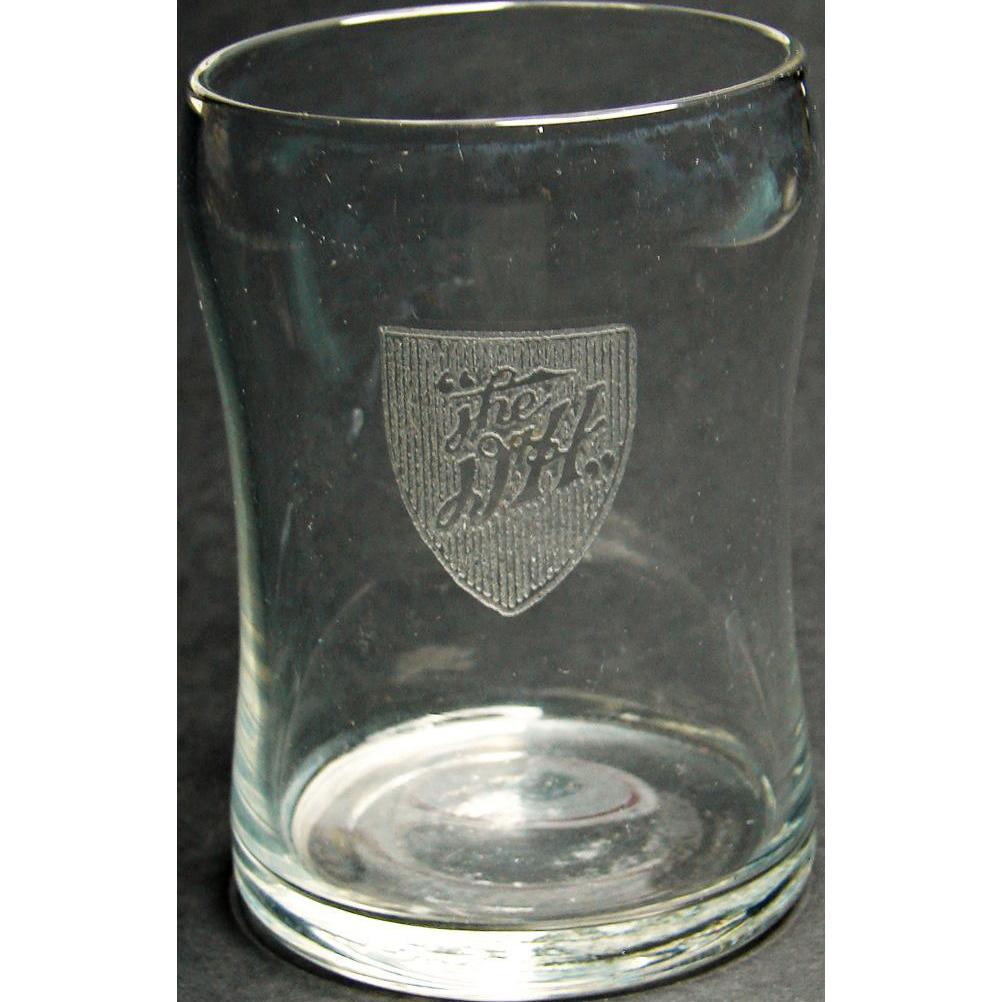 Antique Delaware & Hudson Railroad Cut Logo Fine Glassware Tumbler D&HRR