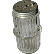 Vintage Hoosier Kitchen Cabinet Glass Shaker Jar with Original Lid