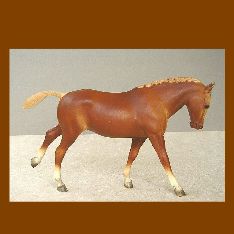 1970s Breyer Flaxen Chestnut Cantering Welsh Pony Traditional Model Horse