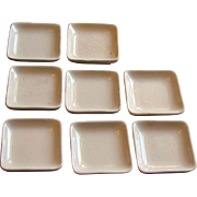 Set of EIGHT Victorian English John Maddock Ironstone China Butter Pats