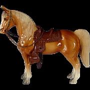 Vintage Gorgeous Earliest Breyer Palomino Western Horse One Owner Model
