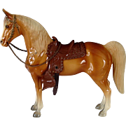 Vintage Gorgeous Earliest Breyer Palomino Western Horse One Owner Model