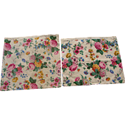 Vintage TWO 1920s-1930s Floral Pillow Covers Flowers