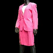 Vintage 1985 Fabulous Hot Pink Christian Dior Lady's Suit