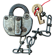 Vintage CRR Conrail Railroad Switch Lock and Key Set