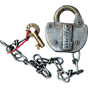 SAL Seaboard Airline Railroad Steel and Brass Switch Lock & Key Set