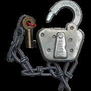 Vintage D&SNG Railroad Durango & Silverton Switch Lock and Key Set