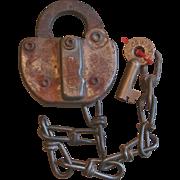 Vintage C&WRY Colorado & Wyoming Railroad Lock and Key Set