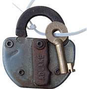 Vintage PH&D Port Huron & Detroit Railroad Switch Lock and Key Set