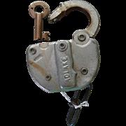 KCT Railroad Kansas City Terminal Switch Lock and Key Set