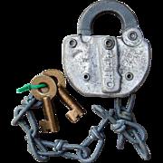 HBLRR Harbor Belt Line Railroad Switch Lock & Keys Set