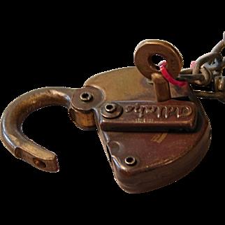 Vintage St.Johnsbury & Lamoille County StJ&LCRR Railroad Brass Switch Lock & Key