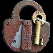 Vintage Monongahela Railroad MRY Lock and Key Set