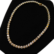 Gorgeous Runway Heavy Sterling CZ / Faux Diamond Necklace over 50 CARATS!
