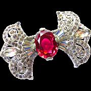 Art Deco Rhodium Paste Pin