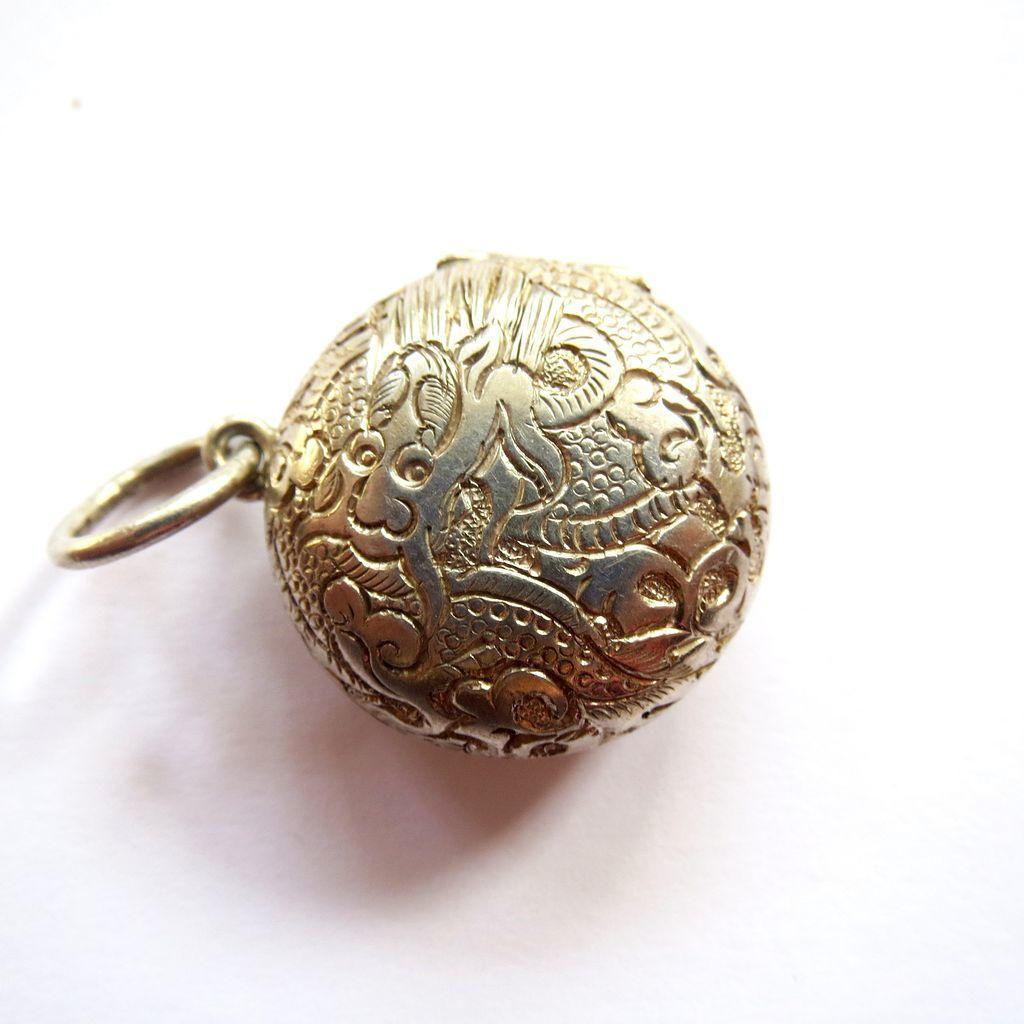 Sterling Double Dragon Locket Charm or Pendant - Double Sided!