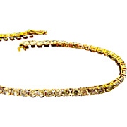 14kt Gold Tennis Bracelet - Faux Diamonds CZ