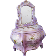 Vintage Fairing Box - Decorative Chest with Mirror