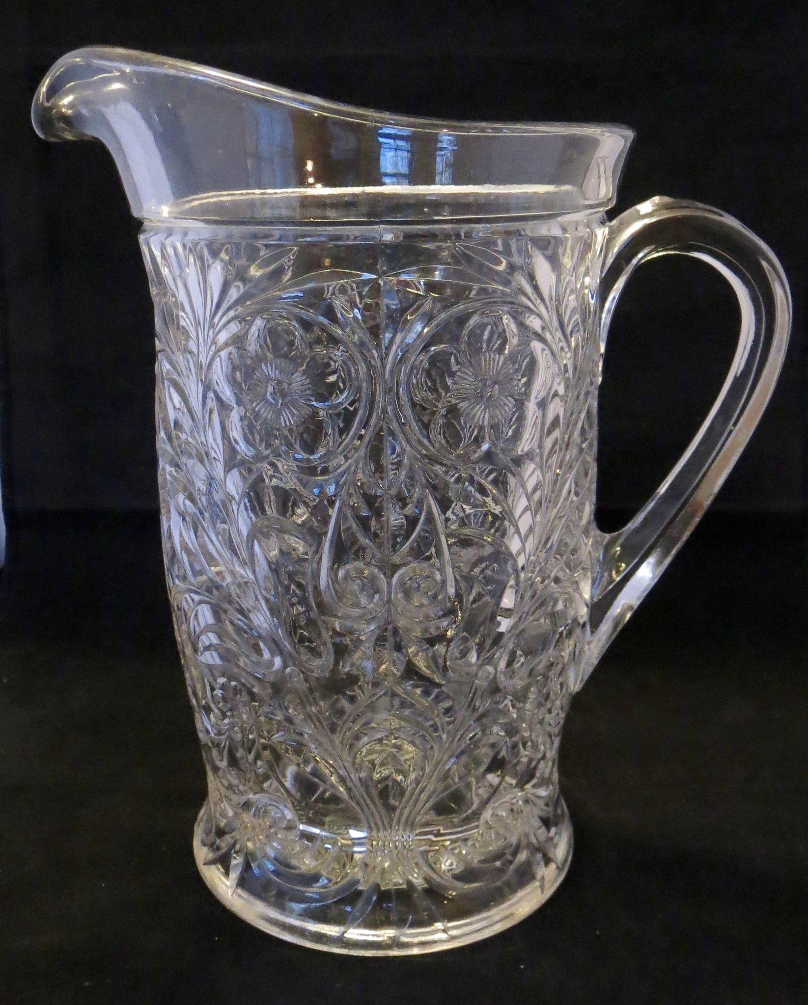 McKee Rock Crystal Tankard Pitcher - Depression Glass Pitcher