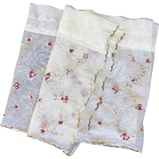 """Embroidered Rosette Lacey Valance - Beautiful and Delicate - 48"""""""